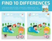 Βρείτε οι διαφοράς, παιχνίδι για παιδί, βρίσκει διαφορά, εγκέφαλος παιχνίδι, παιδί παιχνίδι, εκπαιδευτικός παιχνίδι για προσχολικ διανυσματική απεικόνιση