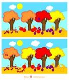 Βρείτε οκτώ διαφορές απεικόνιση αποθεμάτων