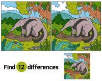 Βρείτε τις διαφορές (anteater) απεικόνιση αποθεμάτων