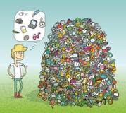 Βρείτε το οπτικό παιχνίδι αντικειμένων Λύση στο κρυμμένο στρώμα! απεικόνιση αποθεμάτων