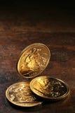 Βρετανικά κυρίαρχα χρυσά νομίσματα Στοκ φωτογραφία με δικαίωμα ελεύθερης χρήσης