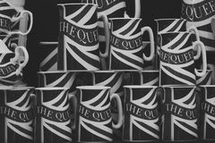 Βρετανικά κύπελλα τσαγιού Στοκ εικόνα με δικαίωμα ελεύθερης χρήσης