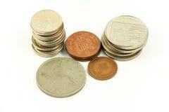 Βρετανικά νομίσματα 1 λιρών αγγλίας Στοκ εικόνες με δικαίωμα ελεύθερης χρήσης