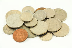 Βρετανικά νομίσματα 2 λιρών αγγλίας Στοκ Εικόνα