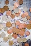 βρετανικά νομίσματα και χαρτονομίσματα pouns Στοκ Φωτογραφία