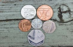 βρετανικά νομίσματα Στοκ φωτογραφίες με δικαίωμα ελεύθερης χρήσης