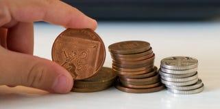 βρετανικά νομίσματα Στοκ Φωτογραφία