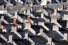 βρετανικά σπίτια Πλύμουθ π& Στοκ Φωτογραφίες