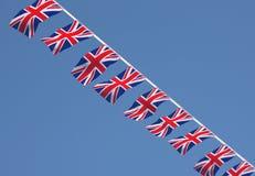 Βρετανικές σημαίες υφάσματος του Union Jack Στοκ Φωτογραφίες