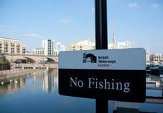 Βρετανικές υδάτινες οδοί Λονδίνο Στοκ φωτογραφία με δικαίωμα ελεύθερης χρήσης
