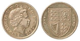 βρετανική λίβρα νομισμάτων Στοκ Φωτογραφίες
