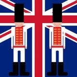 Βρετανική βασιλική φρουρά φρουρών Στοκ Εικόνα