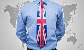 Βρετανική γραβάτα Στοκ εικόνες με δικαίωμα ελεύθερης χρήσης