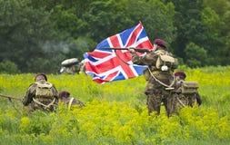 βρετανική ιστορική στρατιωτική στολή στοκ εικόνα