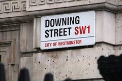 βρετανική κατεβάζοντας πρωταρχική οδός υπουργών του βασικού Λονδίνου Στοκ φωτογραφία με δικαίωμα ελεύθερης χρήσης