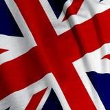 βρετανική σημαία κινηματογραφήσεων σε πρώτο πλάνο Στοκ Εικόνες