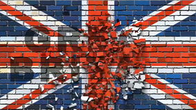 Βρετανική σημαία με τα αποτελέσματα απεικόνιση αποθεμάτων