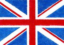 Βρετανική σημαία στο ύφος grunge Στοκ Φωτογραφίες