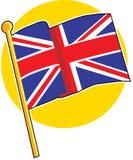 βρετανική σημαία Στοκ Φωτογραφίες