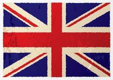 βρετανική σημαία grunge Στοκ εικόνα με δικαίωμα ελεύθερης χρήσης