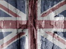βρετανική σημαία grunge Στοκ φωτογραφία με δικαίωμα ελεύθερης χρήσης