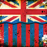 βρετανική σημαία grunge Στοκ εικόνες με δικαίωμα ελεύθερης χρήσης