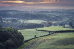 Βρετανικοί τομείς επαρχίας το φθινόπωρο στοκ φωτογραφία με δικαίωμα ελεύθερης χρήσης