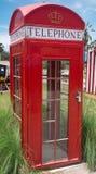 Βρετανικός αναδρομικός τηλεφωνικός θάλαμος ύφους Στοκ φωτογραφίες με δικαίωμα ελεύθερης χρήσης