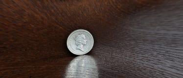 Βρετανικός πανοραμική εικόνα ματιών ψαριών νομισμάτων λιβρών στοκ φωτογραφία με δικαίωμα ελεύθερης χρήσης