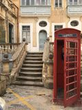 Βρετανικός τηλεφωνικός θάλαμος όχι στη Μεγάλη Βρετανία Στοκ εικόνες με δικαίωμα ελεύθερης χρήσης