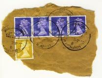 βρετανικός τρύγος γραμματοσήμων αεροπορικής αποστολής Στοκ εικόνα με δικαίωμα ελεύθερης χρήσης