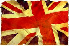 βρετανικός τρύγος σημαιών Στοκ φωτογραφία με δικαίωμα ελεύθερης χρήσης