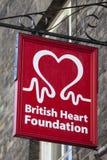 Βρετανικό ίδρυμα καρδιών Στοκ φωτογραφία με δικαίωμα ελεύθερης χρήσης