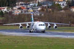 Βρετανικό αεροδιαστημικό Avro RJ100 από Malmö στοκ εικόνες με δικαίωμα ελεύθερης χρήσης