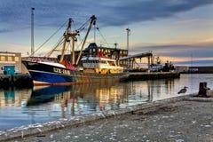 Βρετανικό αλιευτικό πλοιάριο στο λιμάνι Hanstholm, Δανία στοκ φωτογραφίες με δικαίωμα ελεύθερης χρήσης