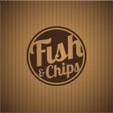 Βρετανικό γρήγορο γεύμα - ψάρια και τσιπ απεικόνιση αποθεμάτων