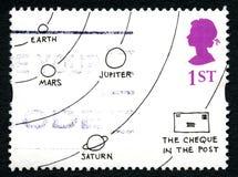 Βρετανικό γραμματόσημο κινούμενων σχεδίων του Jack Ziegler Στοκ φωτογραφία με δικαίωμα ελεύθερης χρήσης