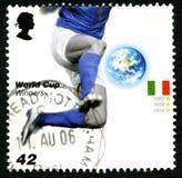 Βρετανικό γραμματόσημο νικητών Παγκόσμιου Κυπέλλου της Ιταλίας Στοκ Φωτογραφία