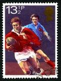 Βρετανικό γραμματόσημο ράγκμπι στοκ φωτογραφίες