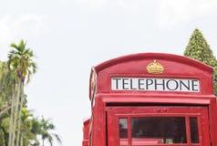 βρετανικό κόκκινο τηλέφωνο θαλάμων Στοκ φωτογραφία με δικαίωμα ελεύθερης χρήσης