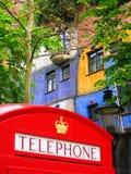 Βρετανικό τηλεφωνικό κιβώτιο Στοκ Φωτογραφίες