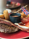 Βρετανικό brunch Στοκ φωτογραφία με δικαίωμα ελεύθερης χρήσης
