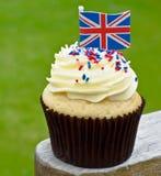 Βρετανικό cupcake Στοκ φωτογραφία με δικαίωμα ελεύθερης χρήσης