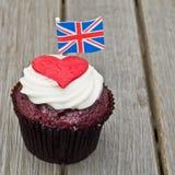 Βρετανικό cupcake Στοκ εικόνες με δικαίωμα ελεύθερης χρήσης