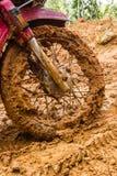 Βροχές λάσπης λεκέδων ροδών μοτοσικλετών Στοκ Εικόνες