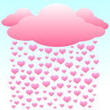 βροχή αγάπης καρδιών Στοκ φωτογραφία με δικαίωμα ελεύθερης χρήσης
