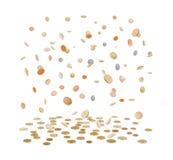 Βροχή από τα χρυσά νομίσματα νομίσματα που πέφτουν χρυ& Στοκ φωτογραφίες με δικαίωμα ελεύθερης χρήσης