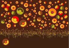 βροχή αφισών μουσικής ina δίσκων απεικόνιση αποθεμάτων