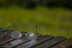 βροχή γυαλιών στοκ φωτογραφίες