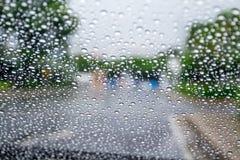 βροχή γυαλιού Στοκ Φωτογραφία